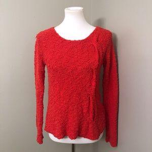 Anthropologie Yellow bird nubby knit sweater